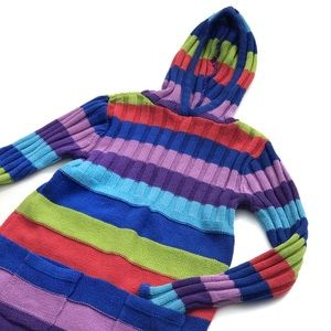 Children's Place Striped Sweater Hoodie Dress